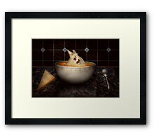 Animal - Bunny - There's a hare in my soup Framed Print