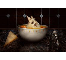 Animal - Bunny - There's a hare in my soup Photographic Print