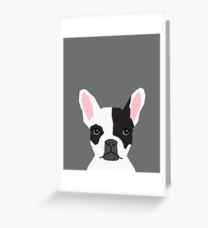 Parker - French Bulldog animal art modern colors for dog people Greeting Card