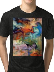 abstract, geometric, expressionist, color, colorful Tri-blend T-Shirt