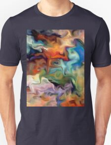 abstract, geometric, expressionist, color, colorful Unisex T-Shirt