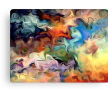 abstract, geometric, expressionist, color, colorful Canvas Print