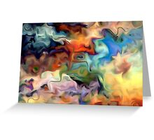 abstract, geometric, expressionist, color, colorful Greeting Card