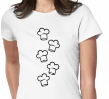 Chef cooking hats Womens Fitted T-Shirt