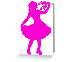 Oh Honey, You KNEW!! (Pink Silhouette 1) Greeting Card