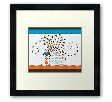 Paisley Peacock Pride and Prejudice: Modern Framed Print