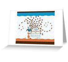Paisley Peacock Pride and Prejudice: Modern Greeting Card