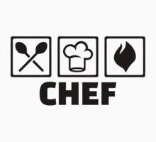 Chef cook hat equipment Kids Tee