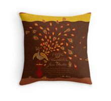 Paisley Peacock Pride and Prejudice: Fall Throw Pillow