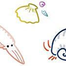 Tiny Swimmy Animals by Skitty Vasquez