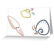 Tiny Swimmy Animals Greeting Card