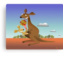 Mothers Day for Kangaroos Canvas Print