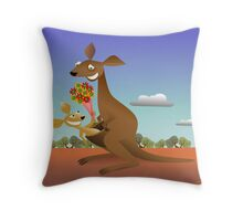 Mothers Day for Kangaroos Throw Pillow