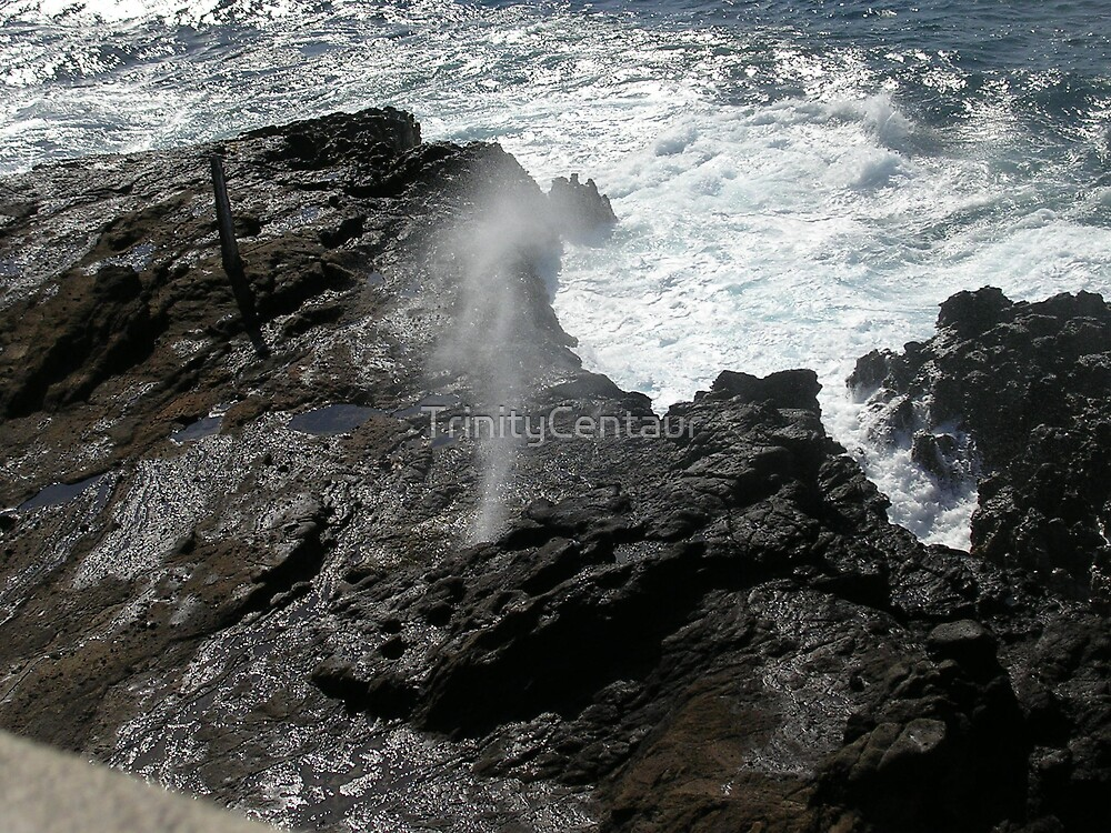 Blowhole in Hawaii by TrinityCentaur