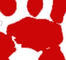 COD Bloody Hand Sticker