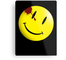 Watchmen Smiley Face Metal Print