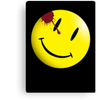 Watchmen Smiley Face Canvas Print