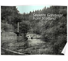 Christmas - Falls of Clyde  Poster