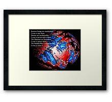 Sentient Framed Print