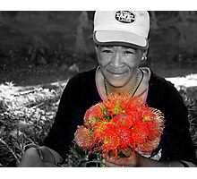 Flower seller Photographic Print