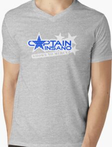 Captain Insano-for-dark Mens V-Neck T-Shirt