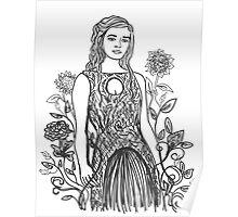 Floral Daenerys II Poster