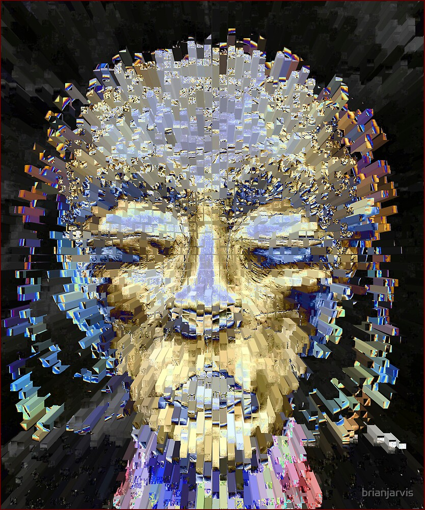 Mettalic Head-Photoshopped by brianjarvis