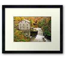 Lantermans Mill In Fall Framed Print