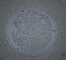 Man hole cover Takamatsu by Trishy