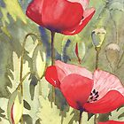 3 Poppies by Val Spayne