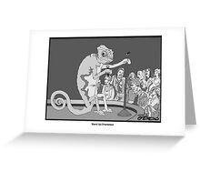 Standup Chameleon  Greeting Card