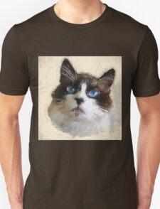 Cat with BIG Blue Eyes Unisex T-Shirt