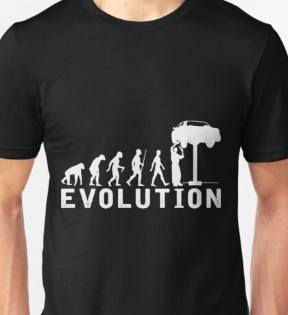 Car Mechanic Evolution T Shirt Unisex T-Shirt