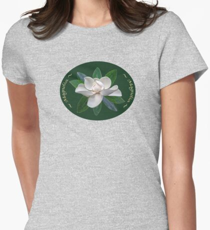 Magnolia Dream Womens Fitted T-Shirt