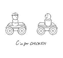 C is for CHICKEN Photographic Print