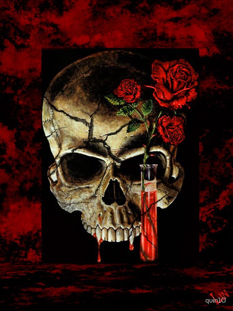 Rose Skull  by quin10