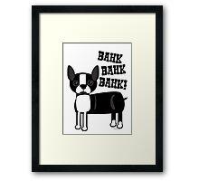 Boston Accent Terrier Framed Print