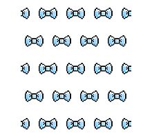 Pixel Ribbon Bow Pattern (blue) Photographic Print