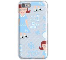 Cute 50's Girl Pattern iPhone Case/Skin