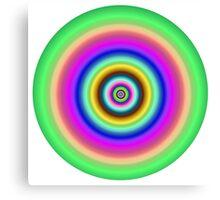 Circles target image. Canvas Print
