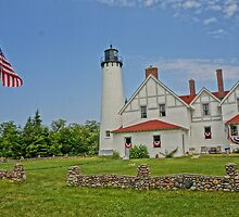 Point Iroquois Lighthouse, Upper Pennusula, Michigan by Kathy Russell