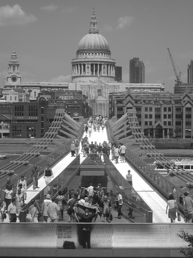 St Pauls from Millenium Bridge by grimbomid