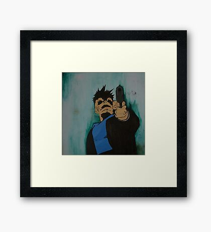 """""""look me in the eye and tell me i'm crazy"""" Framed Print"""