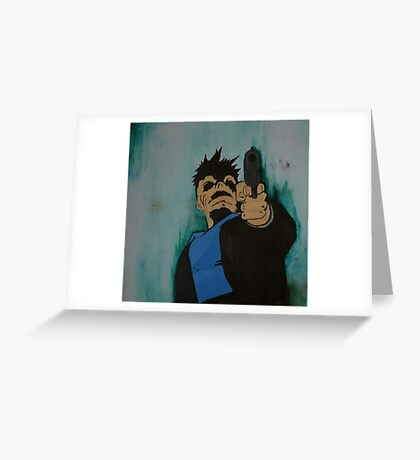 """look me in the eye and tell me i'm crazy"" Greeting Card"