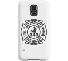 In Memory of NY 343 style BLK Samsung Galaxy Case/Skin