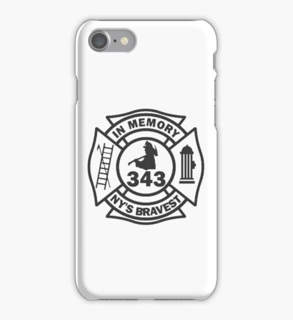 In Memory of NY 343 style BLK iPhone Case/Skin