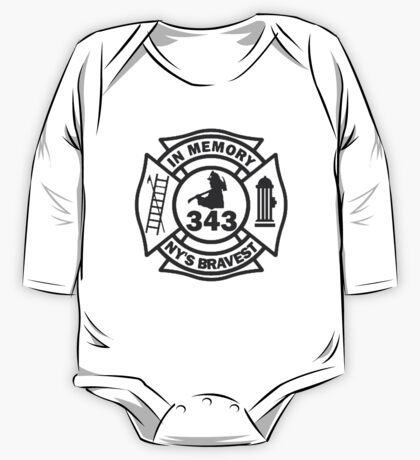 In Memory of NY 343 style BLK One Piece - Long Sleeve