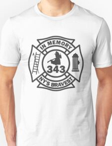 In Memory of NY 343 style BLK Unisex T-Shirt