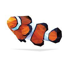 Geometric Abstract Clown Fish by AquanautStudio