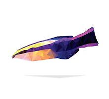 Geometric Abstract Royal Hawaiian Cleaner Wrasse by AquanautStudio